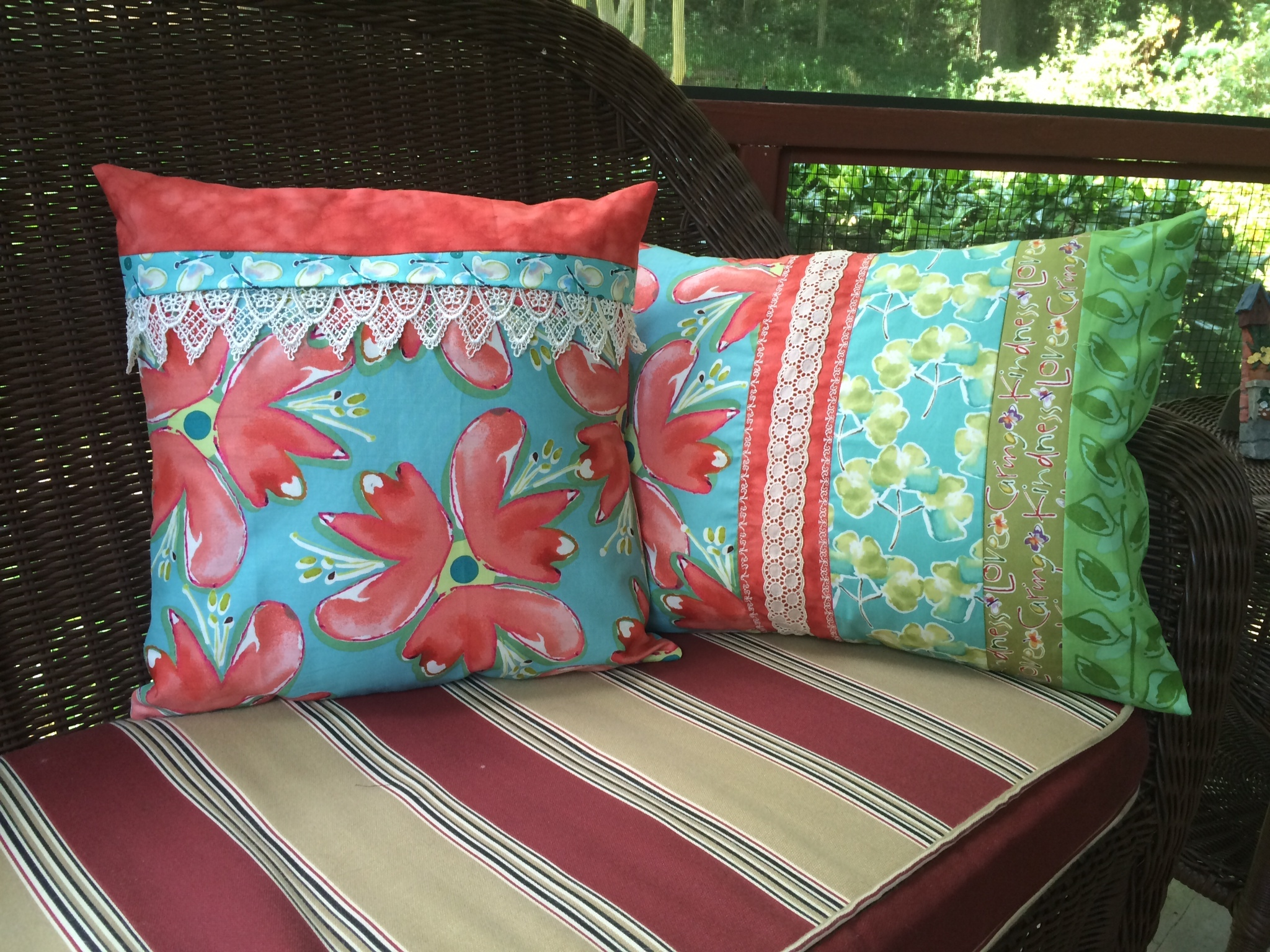 Diy Decorative Pillow Covers : DIY Decor: Pieced Pillow Covers Forty-Something First Time Bride