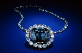 The Hope Diamond: now I know enough to be impressed! Photo courtesy http://mineralsciences.si.edu/hope.htm