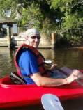 Steve paddling an Ocracoke canal