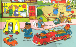Page from a Richard Scarry book