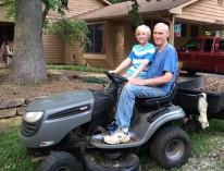 Grandfather-grandson love